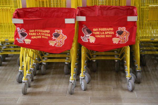 Portacani per carrello supermercato